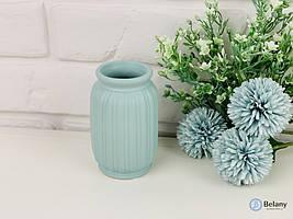 """Голубая ваза из керамики """"FLEX"""" декоративная ваза для цветов подарочная ваза"""