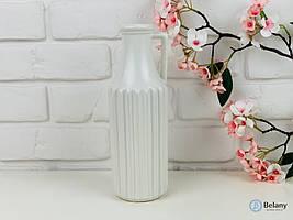 """Матово-белая керамическая ваза """"HAND BOTTLE"""" красивая ваза из керамики декор дома"""