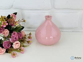 """Ваза """"ИНЖИР"""" розовый глянец стильное дополнение интерьера ваза керамическая на подарок"""