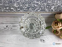 Подсвечник круглый стеклянный для декора интерьера и дома