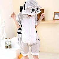 Пижама кигуруми на лето из хлопка Tabby Cat krd0093