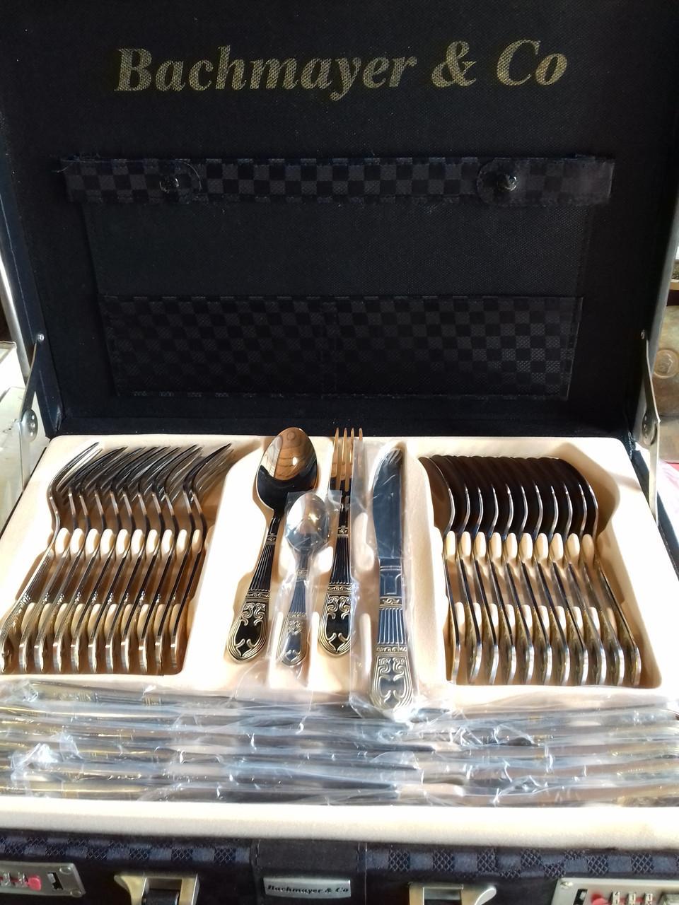 Набор фраже в чемодане Bachmayer BM 7290 набор столовых приборов 72 предмета красивый дизайн