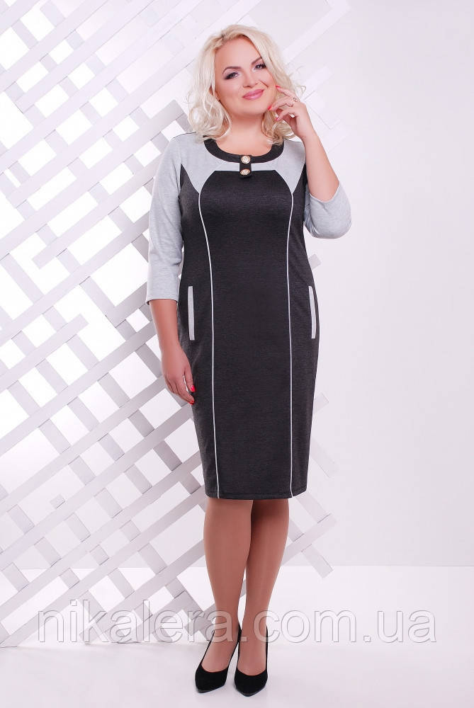Платье из французского трикотажа размер 52-60