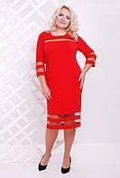 Оригинальное женское платье из креп дайвинга, большого размера  50-60