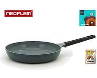 Сковорода круглая серая NEOFLAM XTREMA EK-OT-F28 с антипригарным керамическим покрытием, фото 1