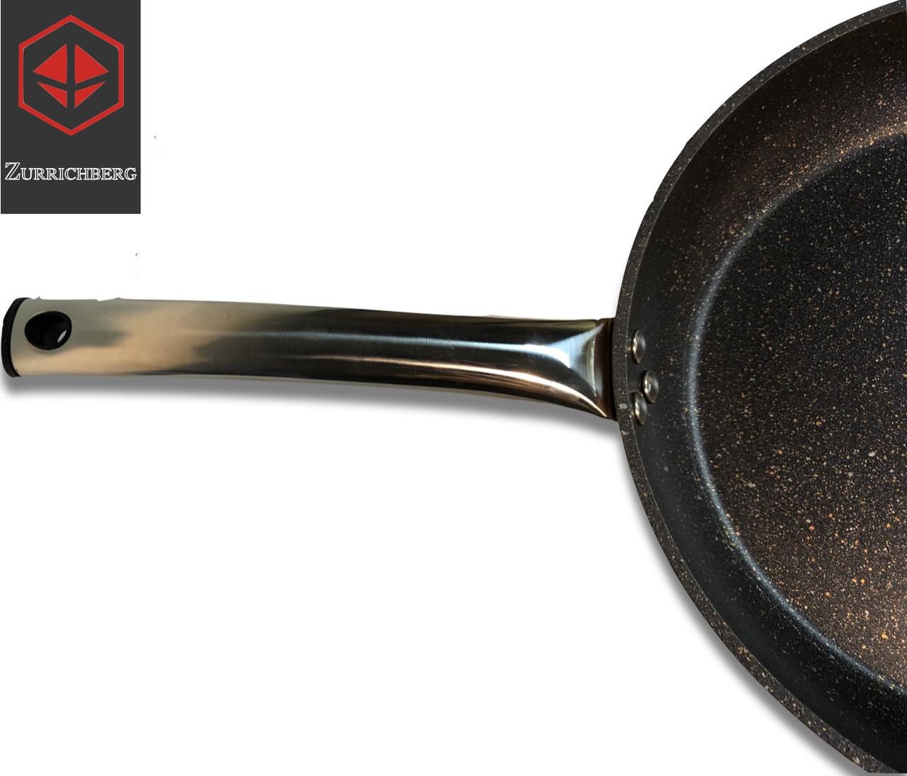 Качественная сковорода 28 см Zurrichberg ZB 4003 круглая без крышки мраморная