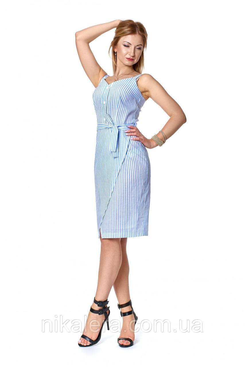 Платье-сарафан  на бретелях в полоску рр 44-50