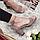Босоножки женские натуральная замша на высоком каблуке с закрытой пяткой, бежевые, фото 4