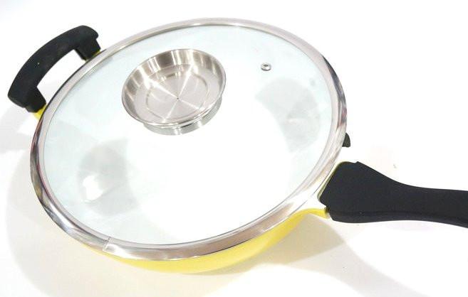 Сковорода антипригарная 2 ручки Swiss Zurich 28cм SZ-18811 28W с керамическим покрытием 28 см