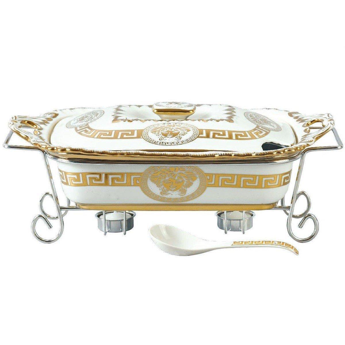 Мармит кастрюля Bohmann Мадонна МА 1135 2,6 л элегантая сервировка стола керамический мармит