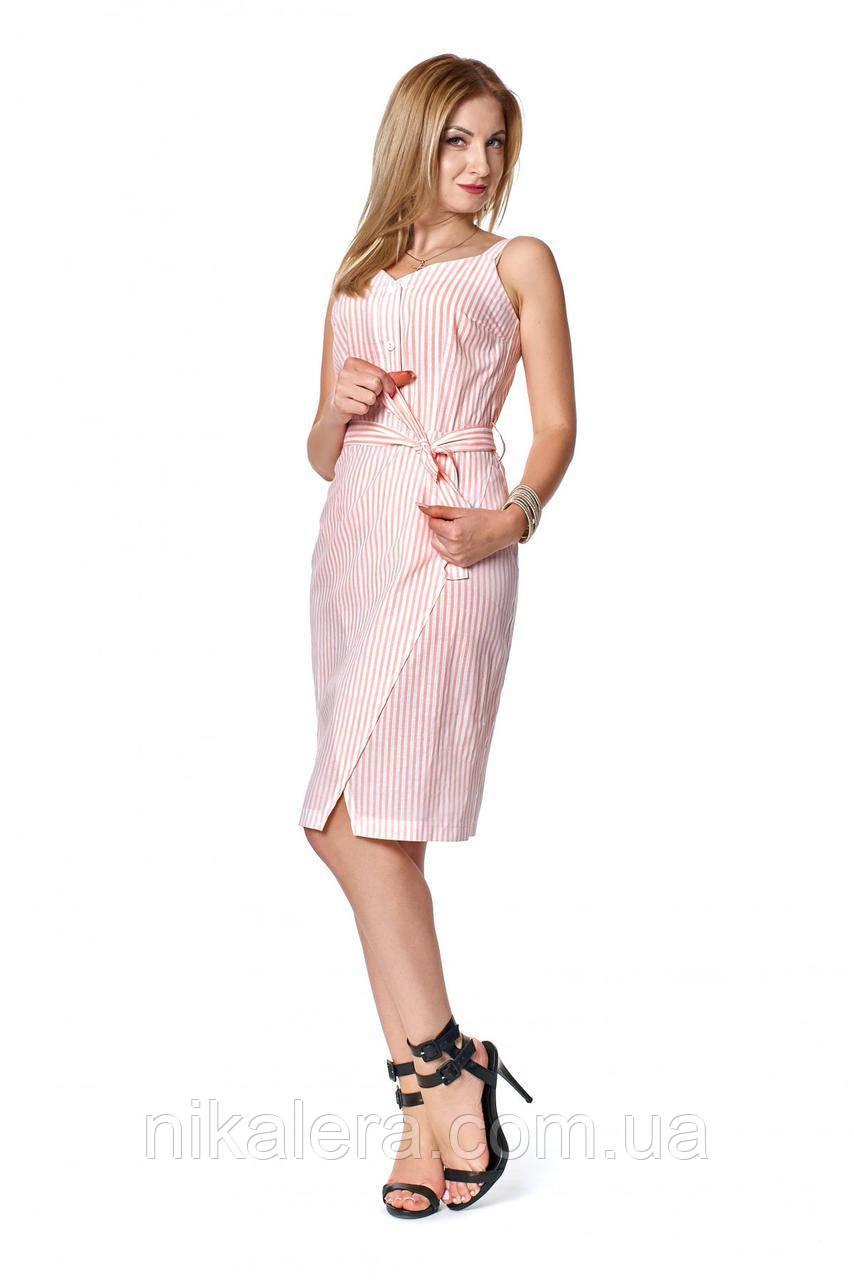 Платье-сарафан  в полоску  рр 42-50