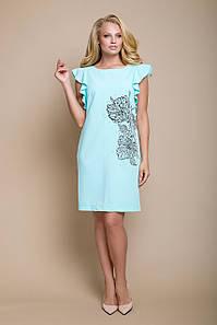 Платье Платье с цветочным рисунком и декоративным жемчугом рр 54-58
