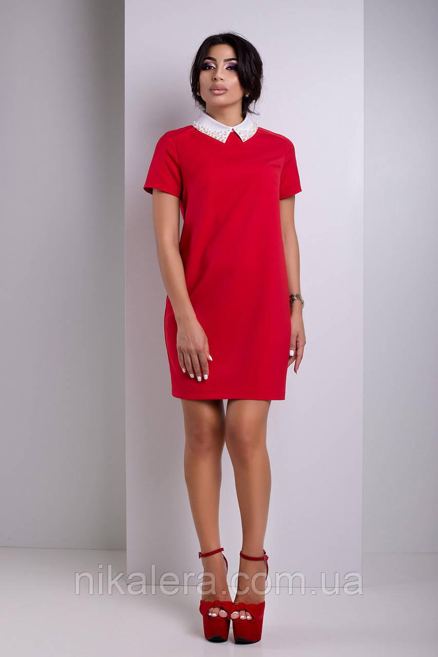 Платье с воротником рубашечного типа  рр 42-50