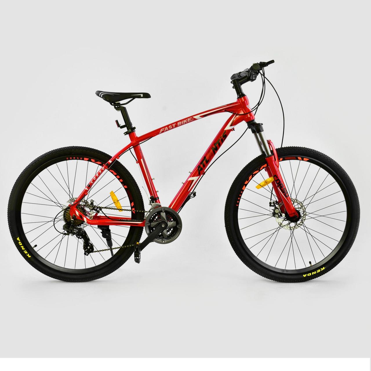 """Велосипед спортивный CORSO ATLANTIS 27,5""""дюйма JYT 008 - 7201 красный"""
