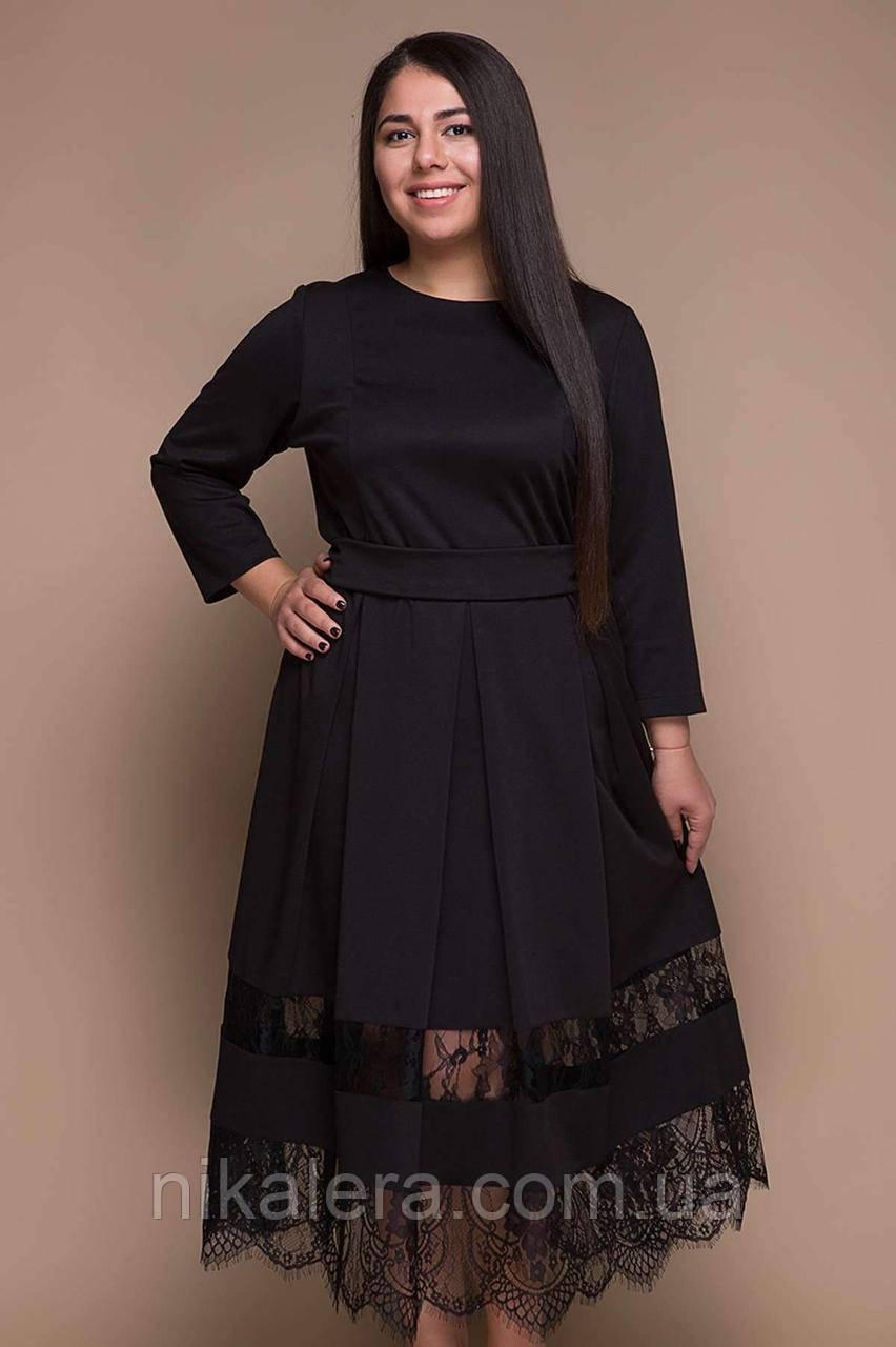 Нарядное платье с французским кружевом, 54-58р