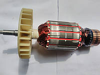 Якорь для электропилы цепной Forte FES-24-40  (176х47 посадка 8 мм, резьба 6 мм)