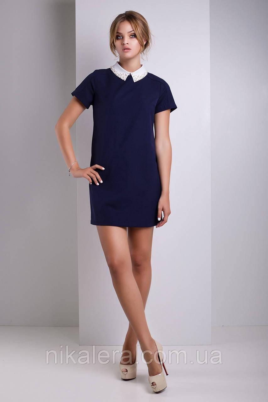 Платье с воротником рубашечного типа  рр 42-48