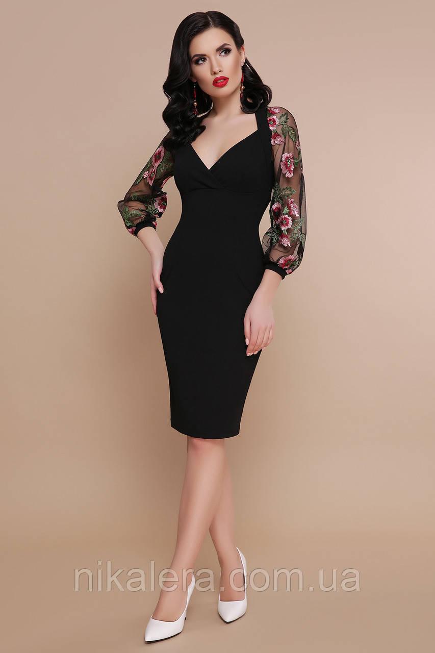 Изысканое платье с шифоновым рукавом