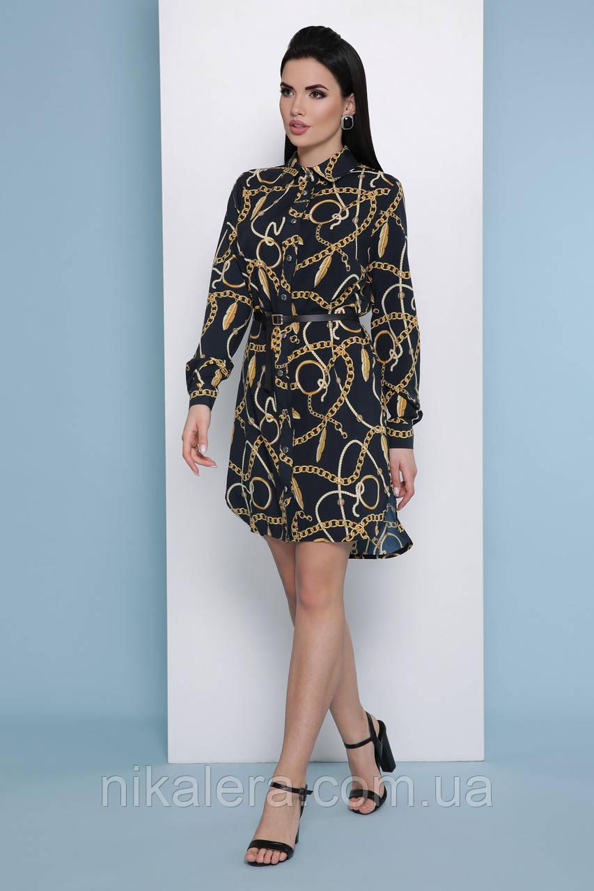 Платье-рубашка из ткани софт