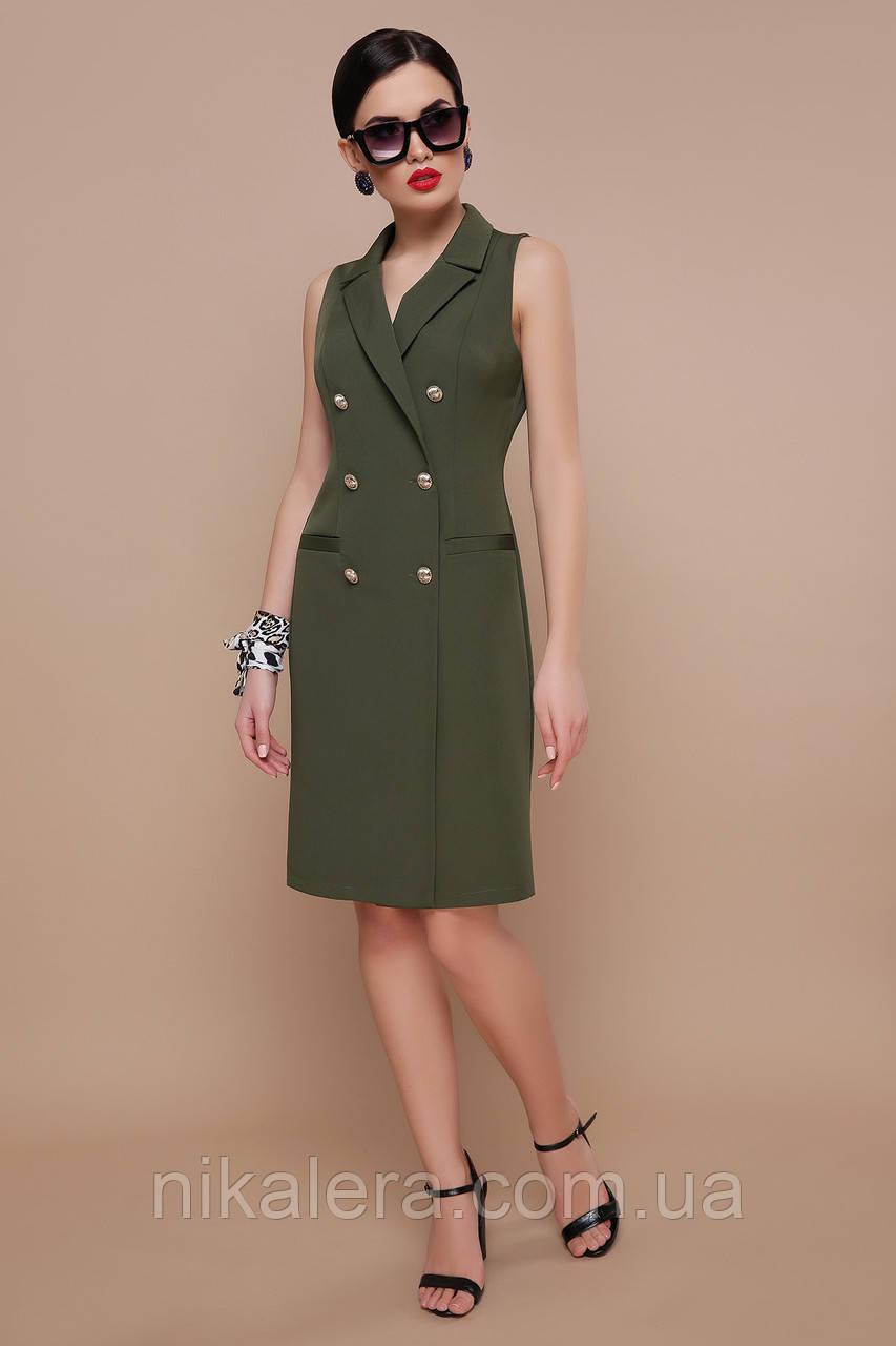 Женское офисное платье-жилет