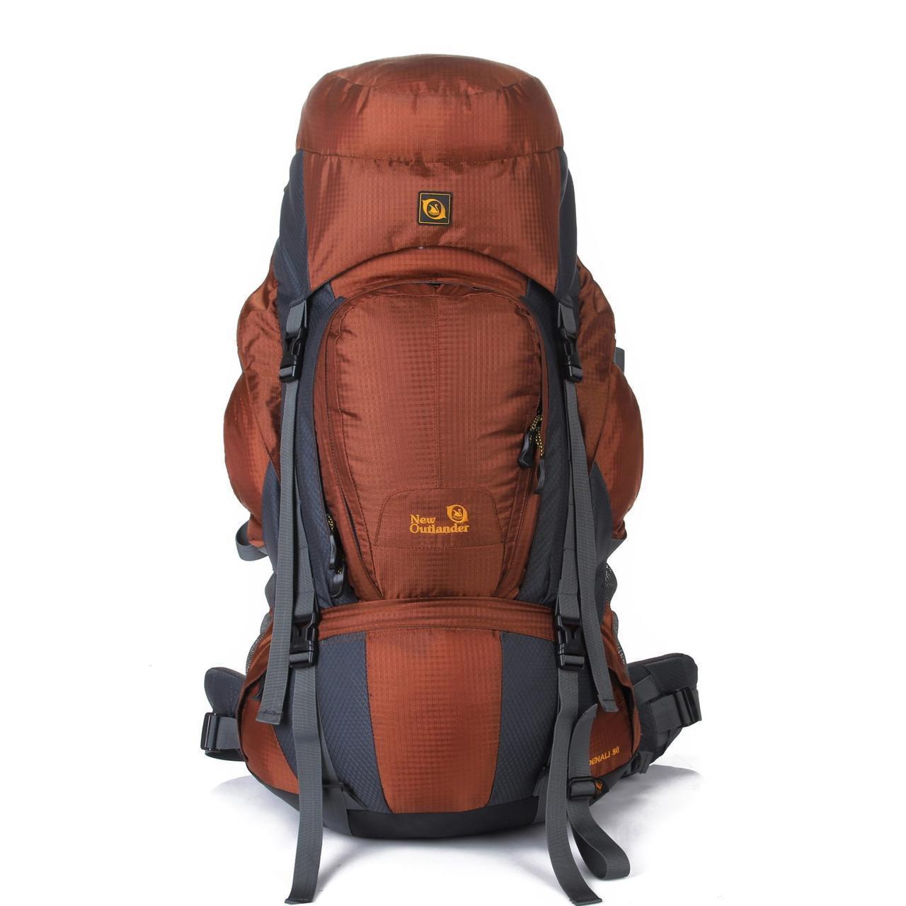 Рюкзак для походов и экспедиций 90 л New Outlander  коричневый (AV 2016)