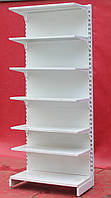 Односторонний (пристенный) стеллаж «Авилон» 235х60 см., белый, на 7 полок, Б/у, фото 1
