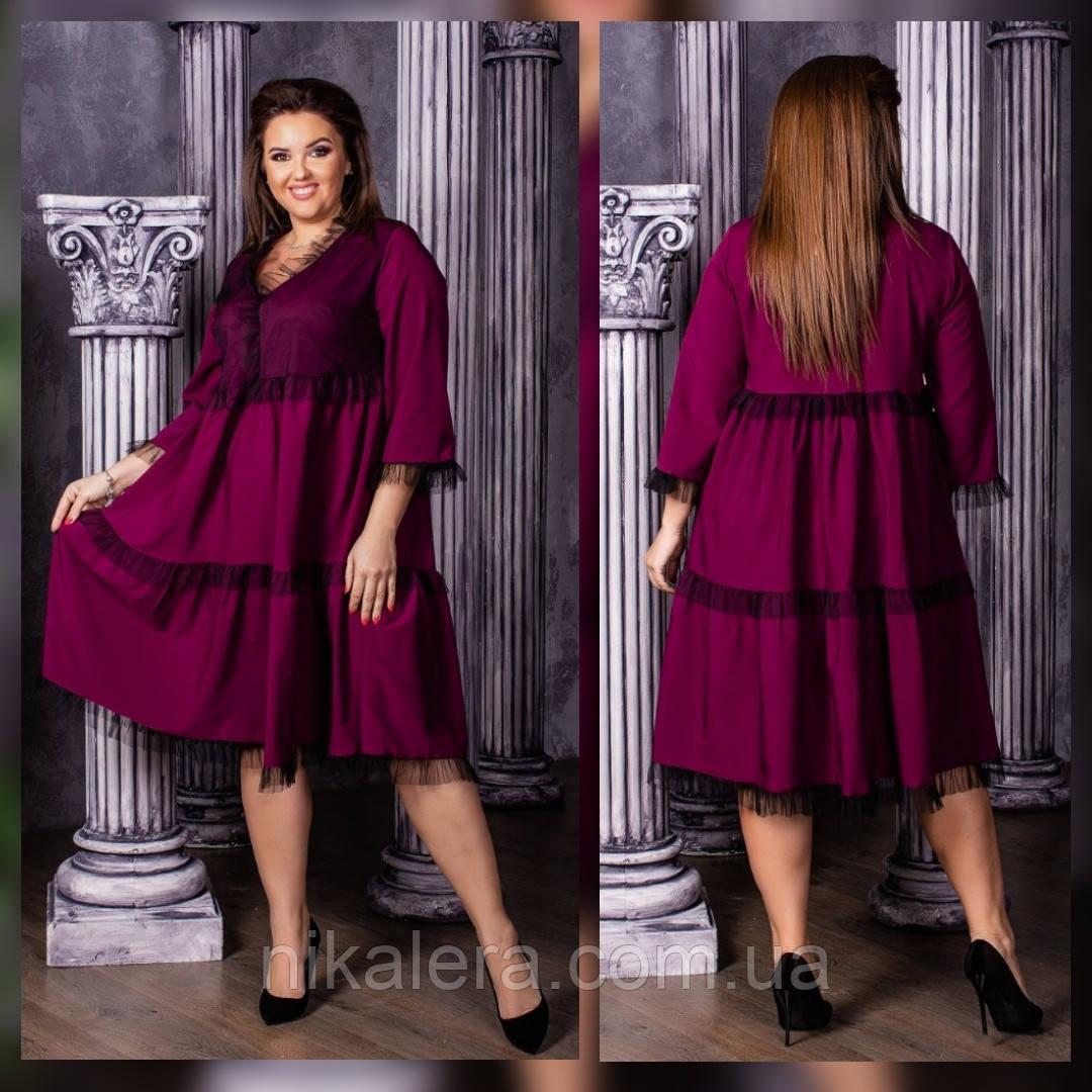 Женское платье свободного кроя  рр 50-60