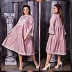 Женское платье свободного кроя с макраме  рр 50-60, фото 2