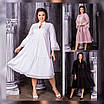 Женское платье свободного кроя с макраме  рр 50-60, фото 3