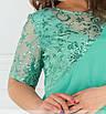 Платье с асимметричным подолом и блестящей вышивкой  рр 50-62, фото 5