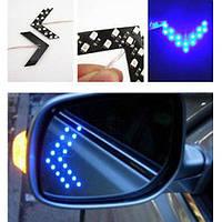 LED указатели поворота зеркала заднего вида синие (z01007)