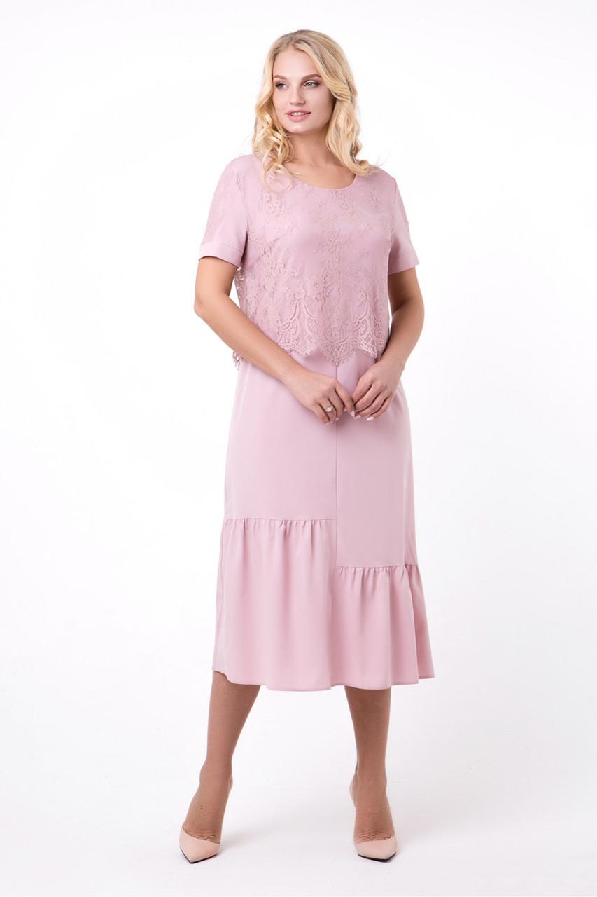 Сукня Світанок 50-56 пудра