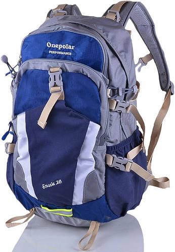 Треккинговый прочный женский туристический рюкзак 28 л. Onepolar (Ванполар) W1729-navy синий