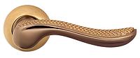 Ручка для дверей на розетке Z-1430 полированная бронза