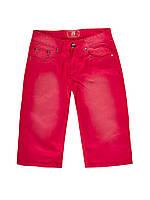 Мужские джинсовые шорты красного цвета