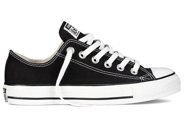 Кеды Converse All Star низкие Replica (реплика) черные New Styles, фото 2