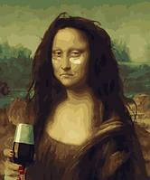 Картина по номерам без коробки. Мона Лиза.Наше время