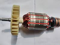 Якорь для электропилы цепной Бригадир Proffesional 2.8 кВт (176х47 посадка 8 мм, резьба 6 мм)