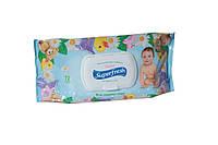 Детские влажные салфетки Superfresh 72 шт. c экстрактом ромашки (с клапаном)