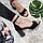 Босоножки женские натуральная замша на высоком каблуке столбик черные закрытая пятка 38, фото 4
