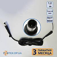 Кабель DC с разъемом 7,4*5,0 2pin 1,2m для зарядного устройства HP, Dell 1,58A-3,42A 3,5A 4,5A - 4,74A 45W 65W 90W