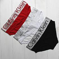 Женские трусики слипы брифы плавочки брендовые в подарочной упаковке на широкой серой резинке модал 3шт, фото 3