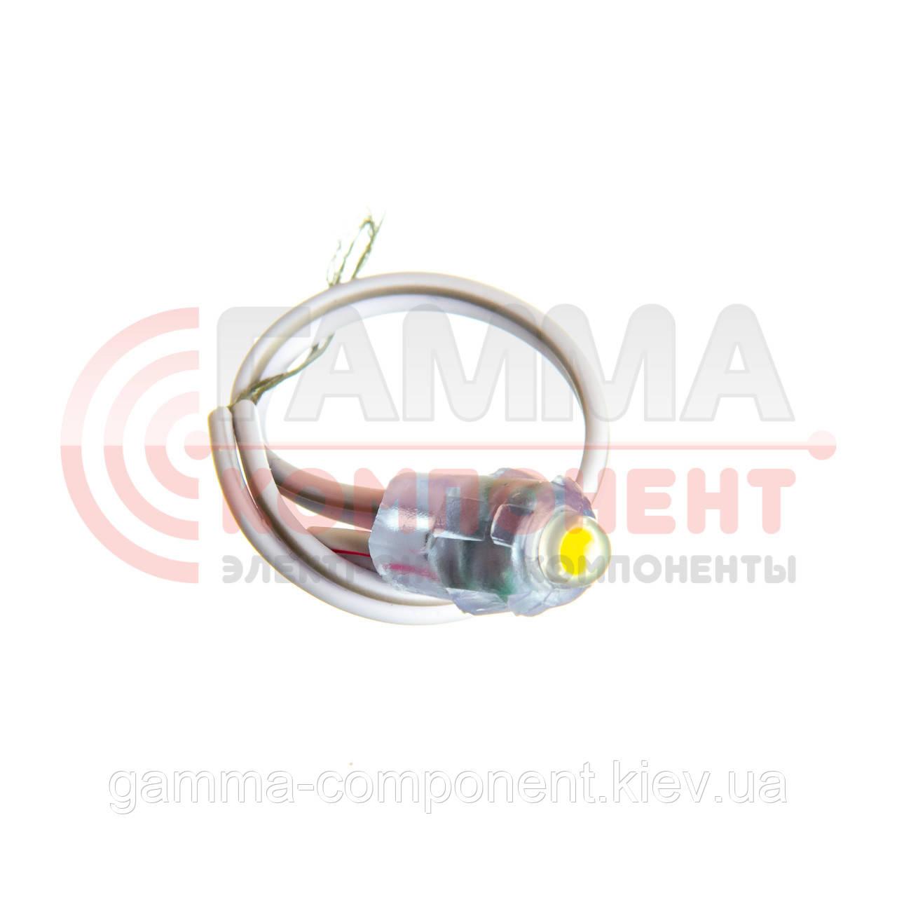 Светодиод быстрого монтажа 1led, 0,08W, белый, 12V, IP65