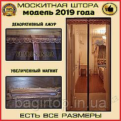 Москитная сетка на дверь коричневая (210х90см)