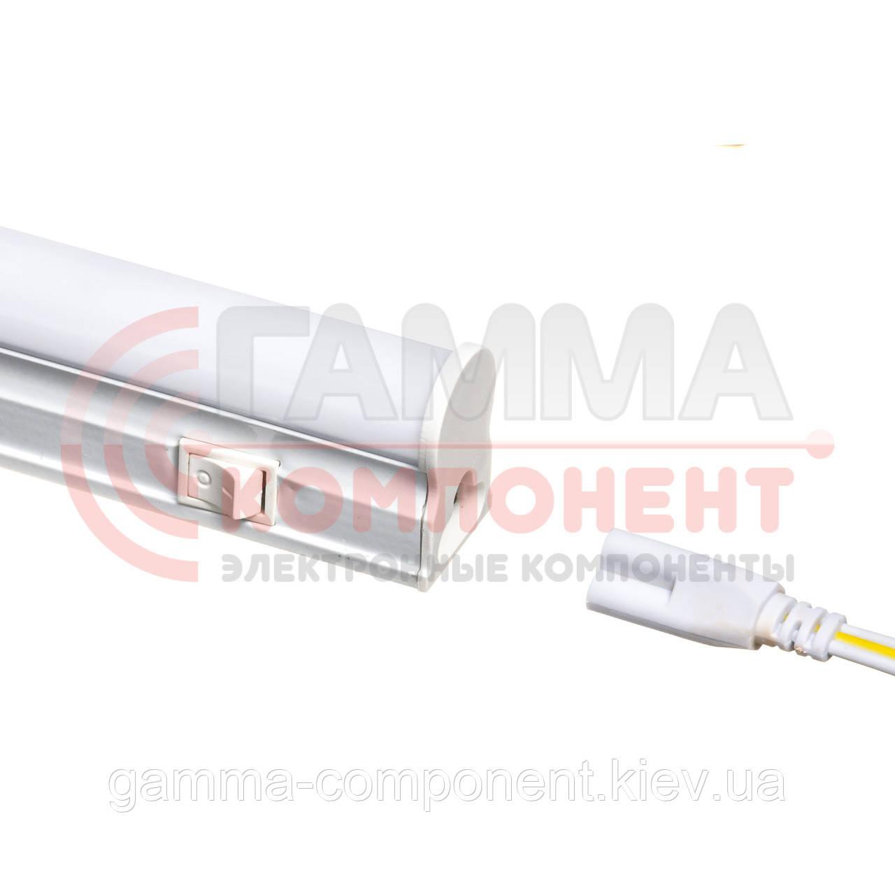 Светодиодный светильник Т5 линейный накладной 9Вт, нейтральный белый, 60 см