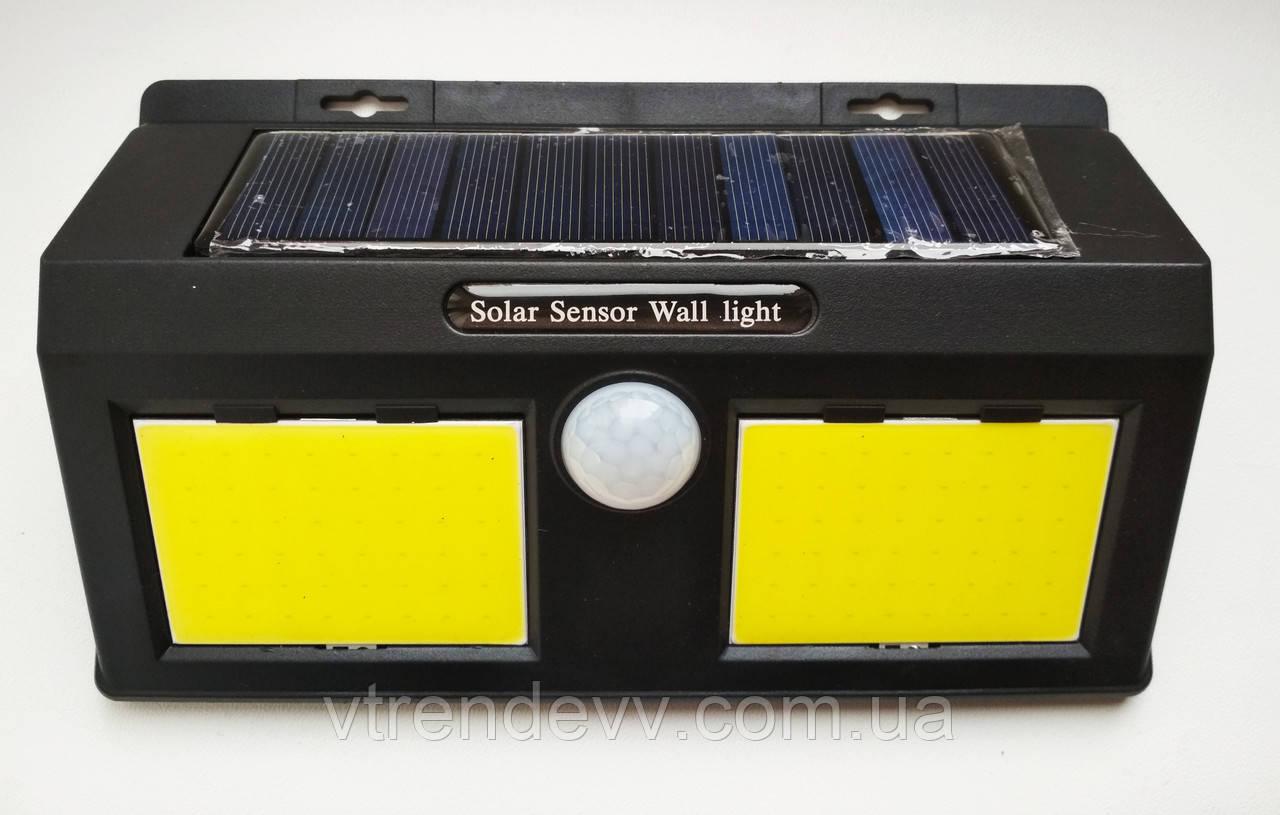 Фонарь уличный с датчиком движения на солнечной панели Solar Motion Sensor Light 96 LED