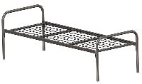 Кровать металлическая одноярусная СИНД 07.004.01.000, ширина  800