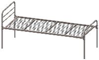 Кровать металлическая одноярусная СИНД КР1Я.01.00.000, ширина  830
