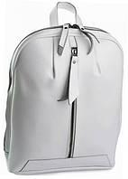 Женский рюкзак из натуральной кожи белого цвета
