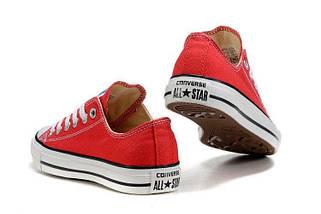 Кеды Converse All Star низкие Replica (реплика) красные New Styles, фото 2